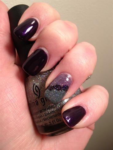 Purple and gray cloud