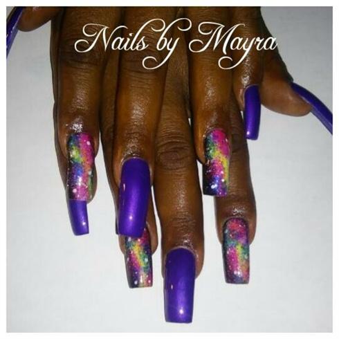 purple galaxy nails  nail art gallery