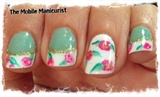 Floral French Mani