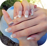French manicure + accent nail art