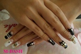 Black and White  studs nail