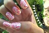 Zebra Gel Nail
