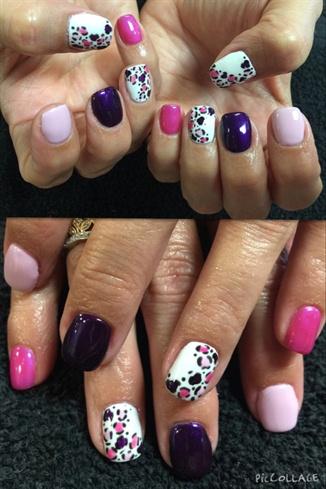 Punk And Purple Leopard