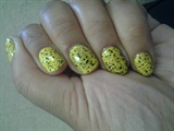 Yellow & Black glitter