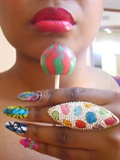 Grafitti Aztec Nails