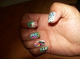 my 23rd bday nail art
