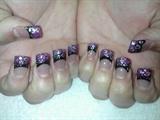 Pink to black