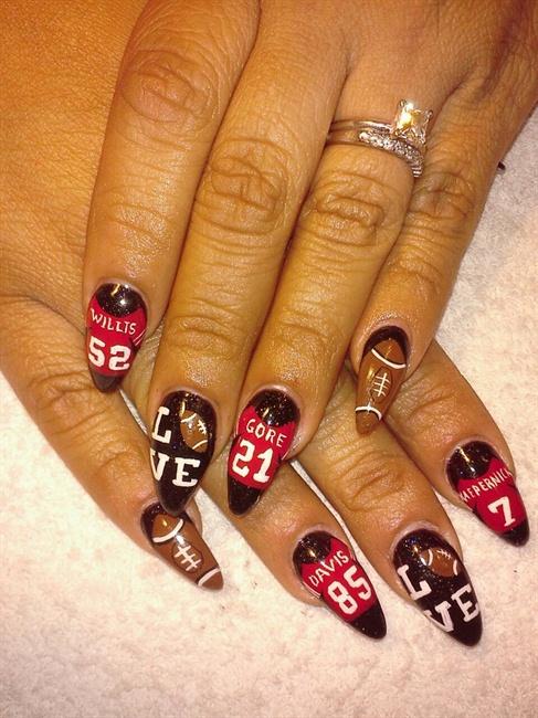 49er Superbowl Nails Nail Art Gallery