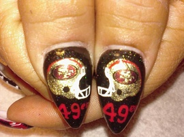 49ers Superbowl Nails