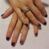 Geometric Accent Nails