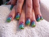Rainbow animal print!