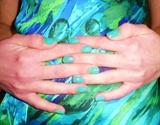 Nails to match shirt