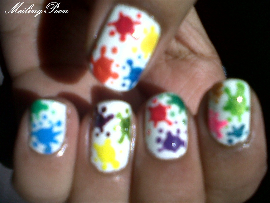 Paint Splatter Nail Art Gallery