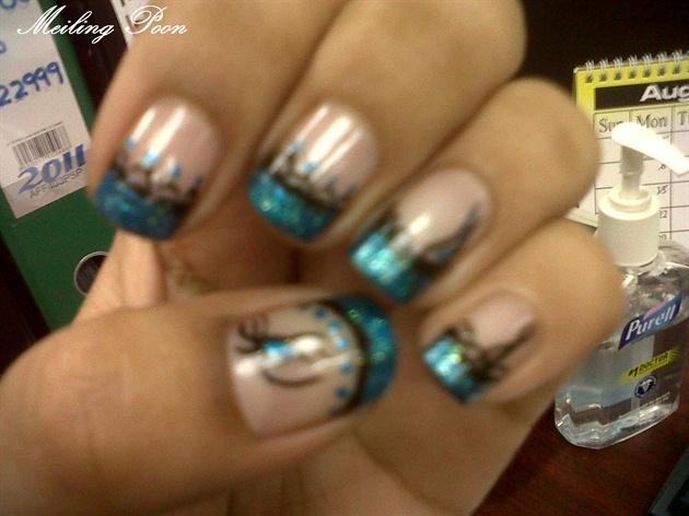 Teal Tips Nail Art Gallery