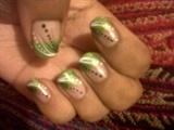 Green Cute Nail Art Design