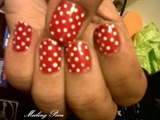 Polka Dots -Red and White