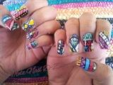 Tribal Aztec Nail Art