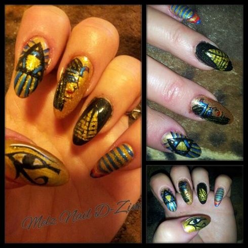 Egyptian Nail Art - Egyptian Nail Art - Nail Art Gallery