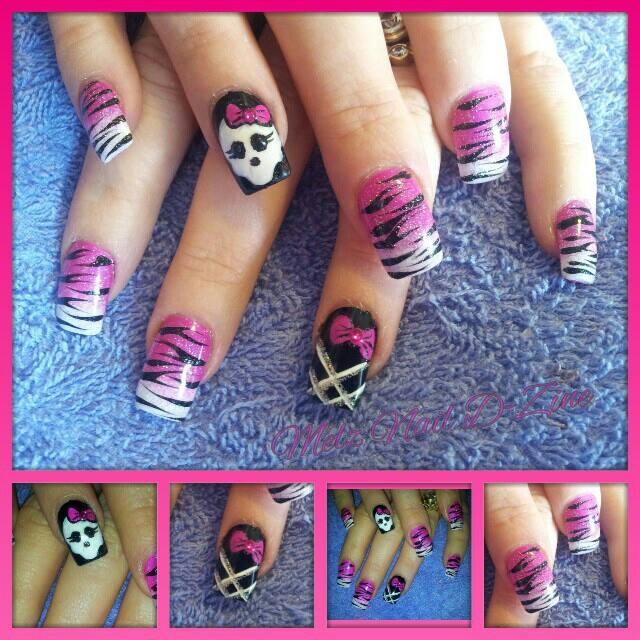 Monster High Tiger Art Nail Art Gallery