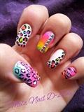 Neon Leopard Art