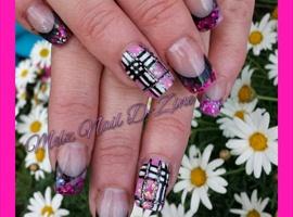Pink glitter Acrylics