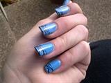 neon blue tiger stripes
