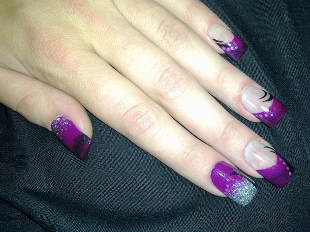 purple black & glitter