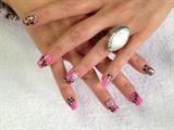 pink gold leopard