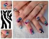 pink aqua zebra