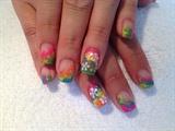 Multicolor marbling