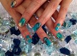 turquoise bling