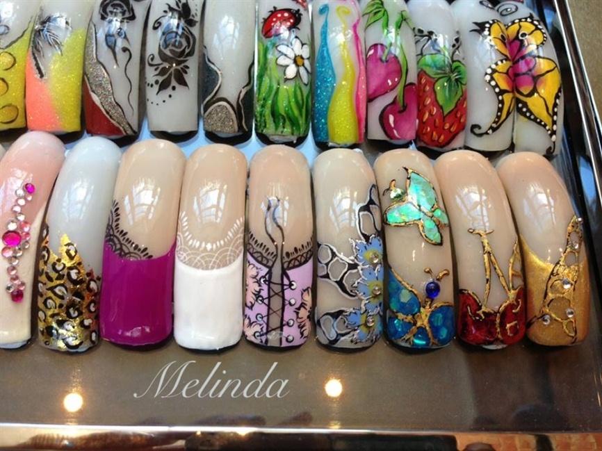 Nail art samples. Closer look. - Nail Art Gallery