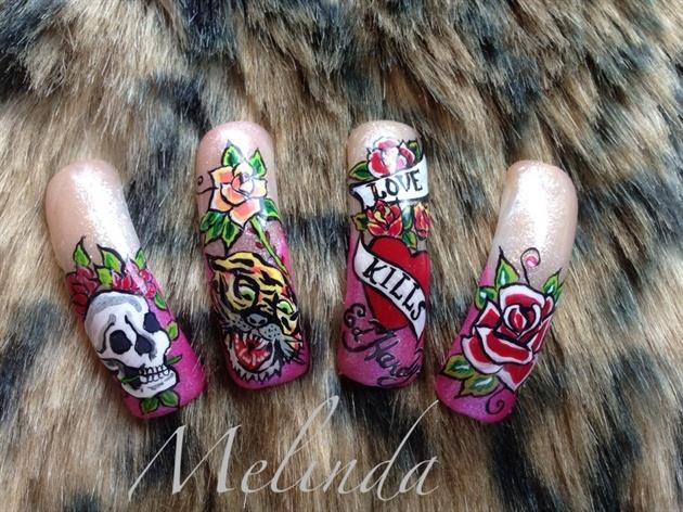 Ed Hardy Nail Art Nail Art Gallery