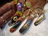 Halloweens nail art