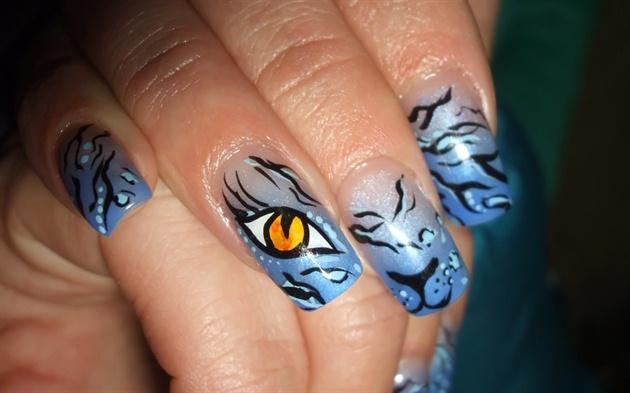 blue cat.
