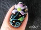 Lotus Flower Nail Art Design