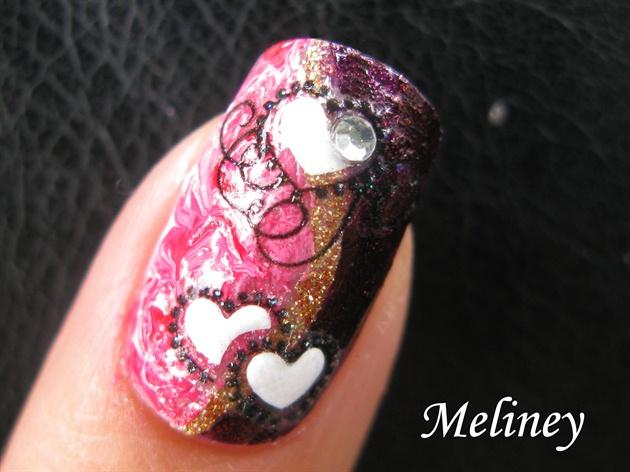 Valentine's Nail Art Design