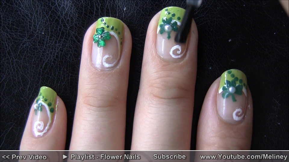 Clover nails youtubemeliney nail art gallery step by clover nails youtubemeliney step by step nail art tutorial prinsesfo Gallery