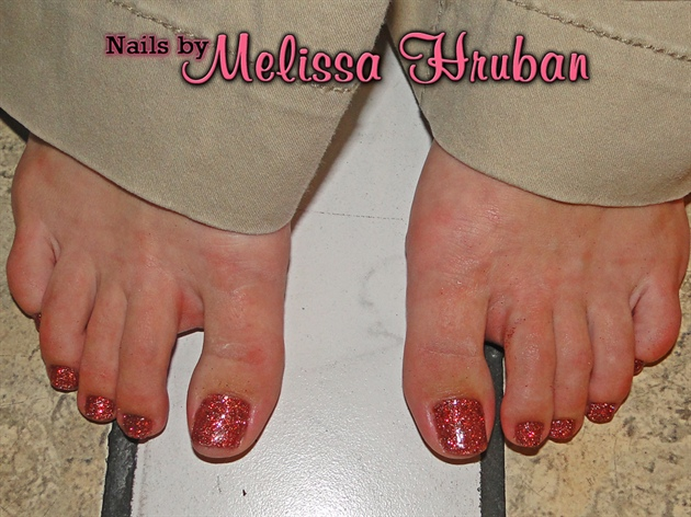 Cinnabar Glitter Toes