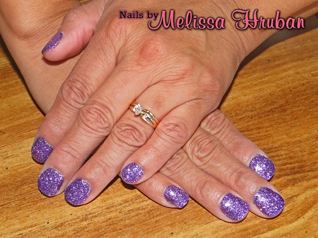 Sugar Plum Glitter Nails