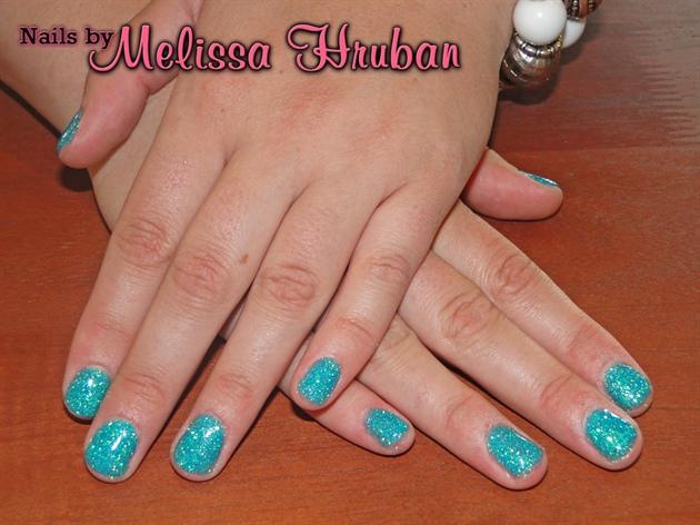Blueberry Slush Glitter Nails