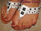 Fire Opal Glitter Toes