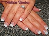 Acrylic Full Set Pink & White