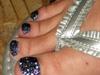 Hematite Glitter Toes