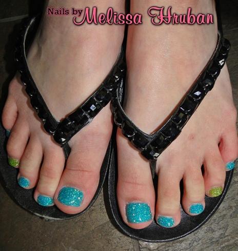 Blueberry Slush & Limeade Glitter Toes
