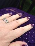 Purple Wedding Nails
