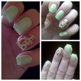 Mint green flowers