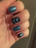 Black And Blue Metallic