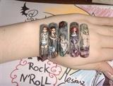 Rock star nail art
