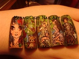 manga nail art